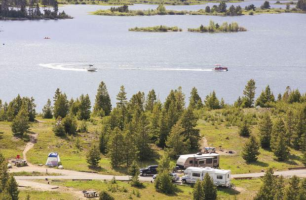 Overnight visitors fill Peak One Campground area near the town of Frisco Tuesday, June 20. The Dillon Ranger District campsite is one of several on the White River National Forest managed by a private company.