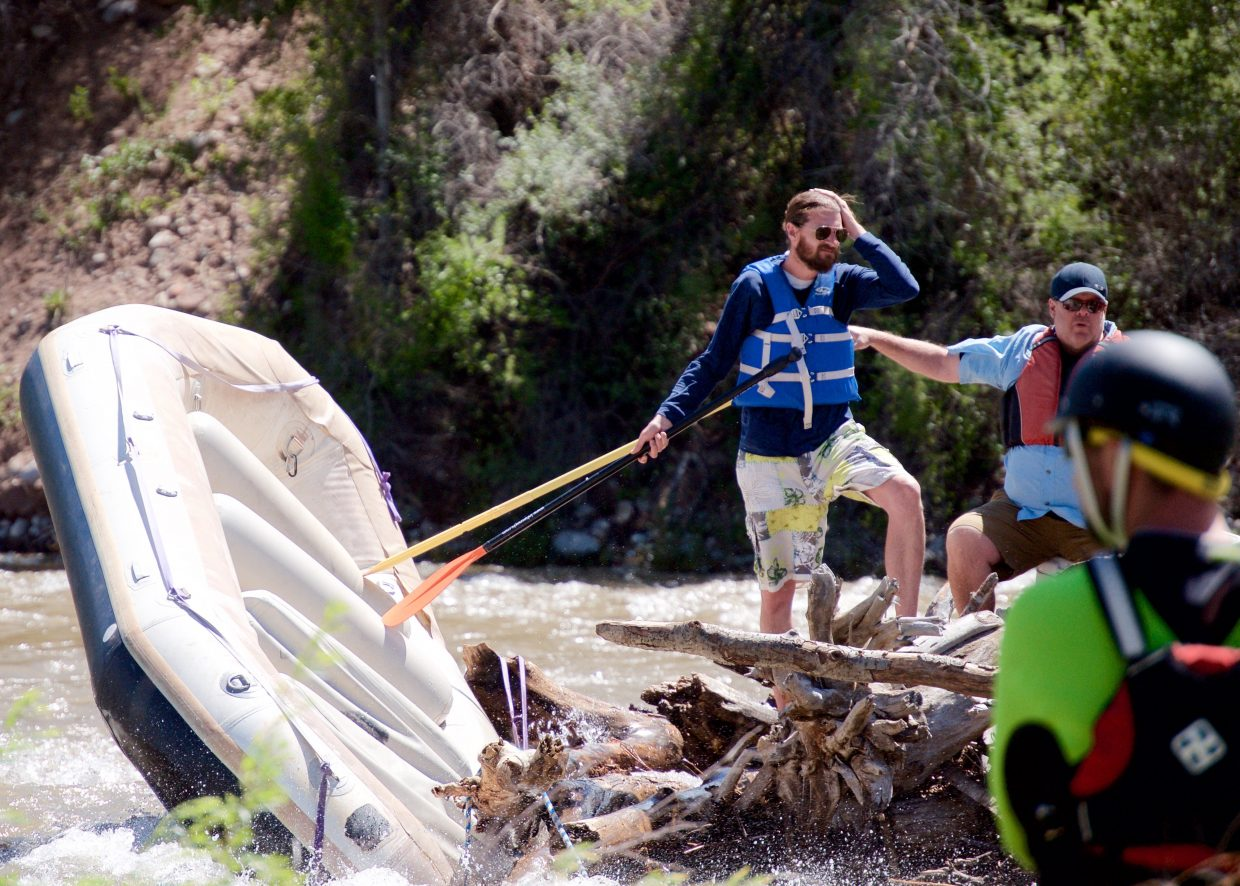 A family spent about three and a half hours stranded on a logjam island in the Roaring Fork River near Aspen Glen.