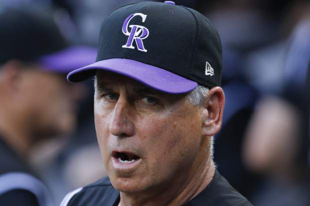 Colorado Rockies manager Bud Black stands in the dugout before a baseball game against the Pittsburgh Pirates in Pittsburgh, Monday, June 12, 2017. (AP Photo/Gene J. Puskar)