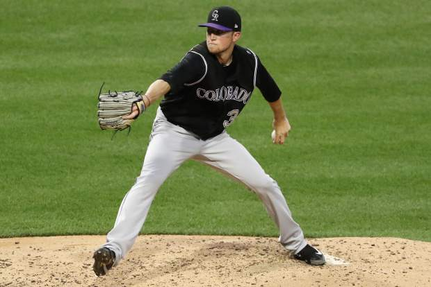 Colorado Rockies starting pitcher Kyle Freeland delivers in the fifth inning of a baseball game against the Pittsburgh Pirates in Pittsburgh, Monday, June 12, 2017. (AP Photo/Gene J. Puskar)