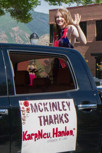 2017 Miss Strawberry Days McKinley Jade Mueller makes an appearance in the Strawberry Days parade Saturday morning.