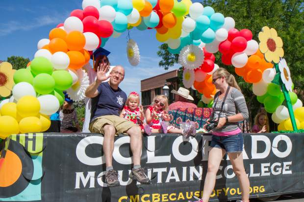 This years Strawberry Days theme was 'Peace, Love and Learning' and focused on the 50th anniversary of Colorado Mountain College.