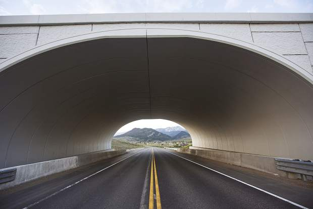 A wildlife crossing bridge over State Highway 9 north of Green Mountain Reservoir, as seen on Wednesday, June 20.