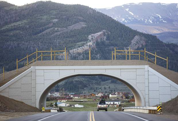 A wildlife crossing overpass above State Highway 9 north of Green Mountain Reservoir is helping to mitigate animal-vehicle collisions in the region. CDOT and Colorado Parks and Wildlife are now working together to find solutions for the state's rising number of wild animal deaths and human injuries.