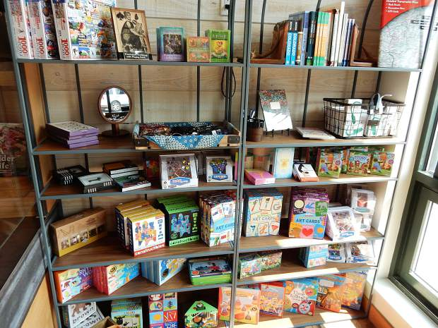 In addition to books, the new store at Willits Town Center features gifts, puzzles and educational toys.