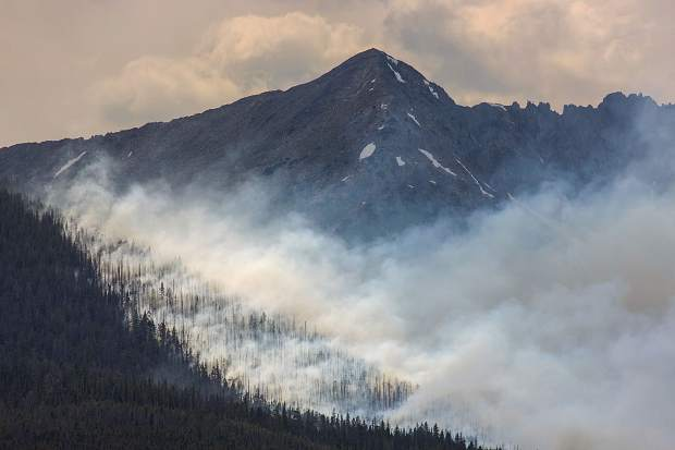 Wildland fire Wednesday, July 5, in Breckenridge.