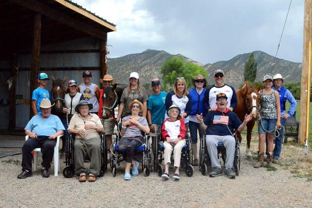 A group photo of the residents who take part in the R.I.D.E Program in Silt.