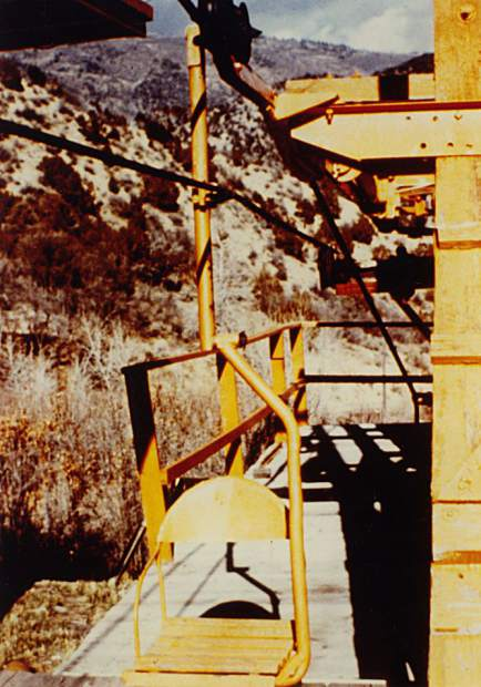 Red Mountain at Glenwood Springs was tried as a ski area without much luck. Here's one of the lift chairs.