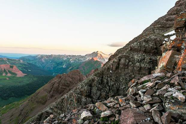 Views from Maroon Peak and North Maroon Peak offer a glimpse into the geology, and the danger, of the Maroon Bells.