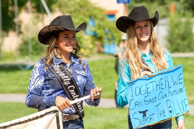 The Garfield County Fair Royalty showing their support for Law Enforcement during last years Silt Heydays parade down Grand Avenue.