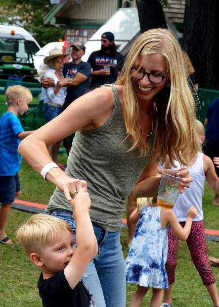 Mountain Fair is often praised as a family-friendly event, and the kids didn't shy from dancing to music in Sopris Park.