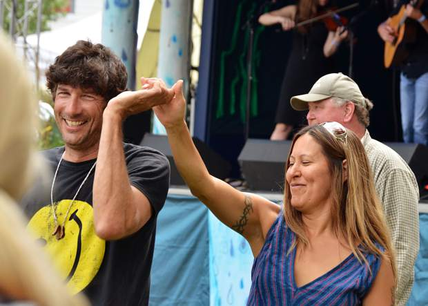 Mountain Fair-goers couldn't help but get up and dance in the musically-charged atmosphere of Sopris Park at the festival.