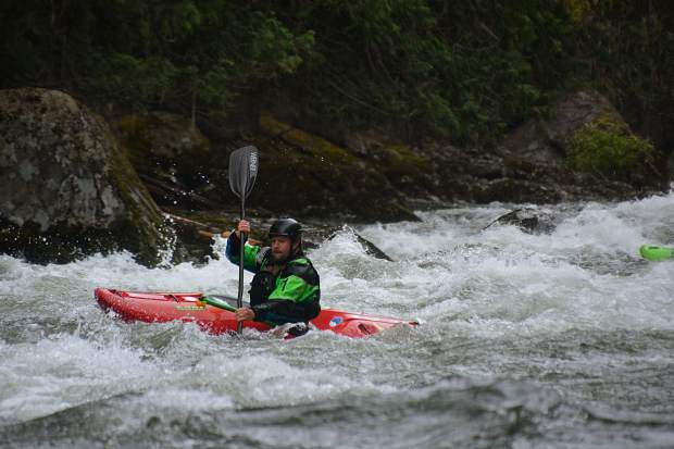 Carbondalian Nate White, a year after suffering a devastating spinal chord injury while kayaking and then achieving an astounding recovery, is back on the water on the Selway River in Idaho.