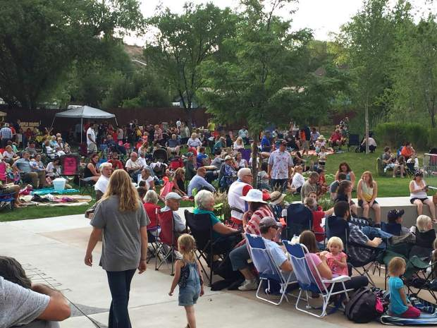 Centennial Park was filled with Rifle families for the town's Independence Day event on Monday. Crowd are estimated to have exceeded 2,500 in the past.