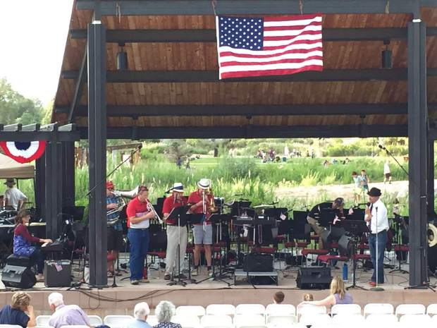 Symphony in the Valley performed in front of a crowd of Rifle families on Monday night as the town celebrated the Fourth of July a day early.