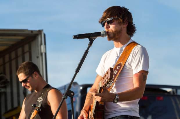 Country singer Chris Janson performs at the 2016 Garfield County Fair and Rodeo.
