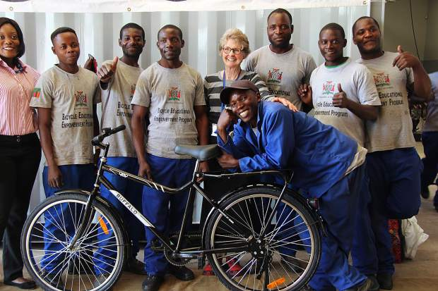 Aspen's Dusty Hamrick was among a dozen people to travel to Zambia in June to help deliver bikes donated to them through the Aspen Invitational.