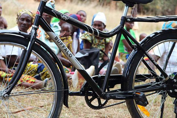 One of the Buffalo Bicycles donated to the people of Zambia through the Aspen Invitational.