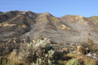 Photo of 2017 fire at the Grand Hogback. The area will be one would receive wilderness designation in a recently proposed bill.