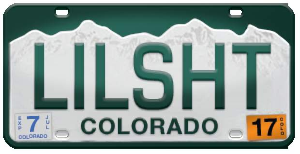 Colorado has list of banned license plates and some are for Colorado springs motor vehicle registration
