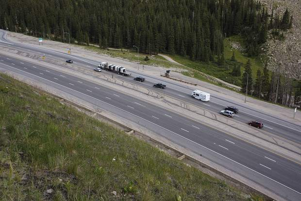 Traffic passes through Eisenhower Tunnel Tuesday.