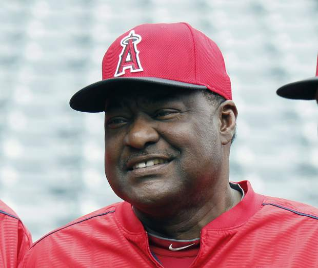 FILE - In this April 23, 2015, file photo, Los Angeles Angels' Don Baylor poses for a photo before a baseball game against the Oakland Athletics, in Anaheim, Calif. Don Baylor, the 1979 AL MVP with the California Angels who went on to become manager of the year with the Colorado Rockies in 1995, has died. He was 68. Baylor died Monday, Aug. 7, 2017, at a hospital in Austin, Texas, his son, Don Baylor Jr., told the Austin American-Statesman.(AP Photo/Alex Gallardo, File)
