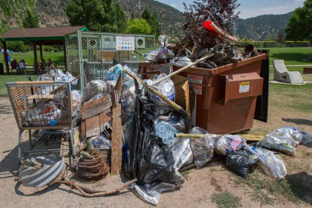 Volunteers picked up at least two dumsters full of trash along the Colorado and Roaring Fork Rivers Saturday morning for the annual RiverFest clean-up.