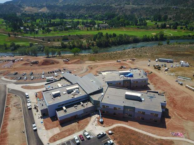 The new Riverview School takes shape south of Glenwood Springs alongside the Roaring Fork River. The pre-kindergarten through eighth-grade school, whose sports teams will be the Ospreys, was built as part of the Roaring Fork School District's $122 million bond issue plan. Its grand opening is Aug. 31. The start of school in RFSD, delayed by the Grand Avenue bridge closure, is Sept. 5.