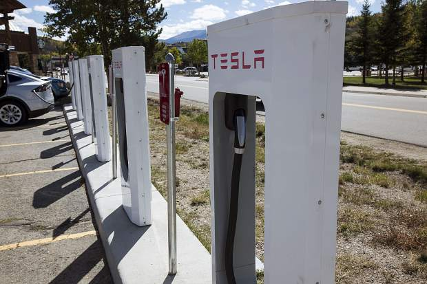 The multi-billion-dollar Volkswagen settlement money negotiated with the federal government is set to buy Colorado's electric vehicle future to the tune of $68 million. The plan envisions at least 60 new fast-charge stations like these Tesla brand ones in Silverthorne throughout the state, notably on the Insterstate 70 stretch along the Western Slope.