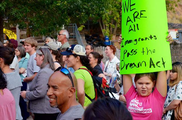 Protesters at the rally chanted: