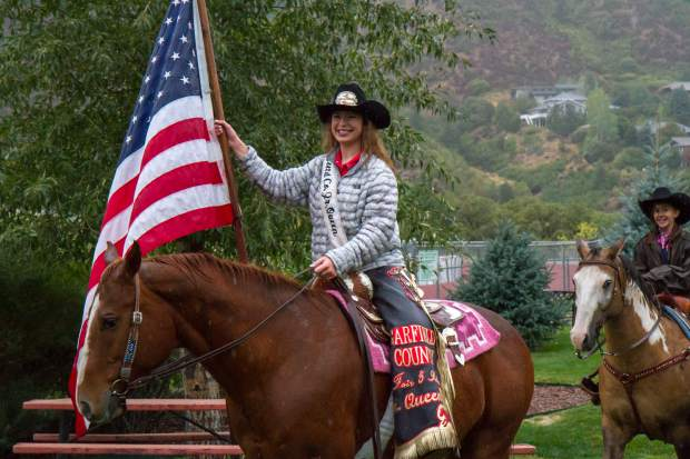 The Garfield County Rodeo royalty lead the parade during the sixth annual Rally the Valley on Saturday morning.