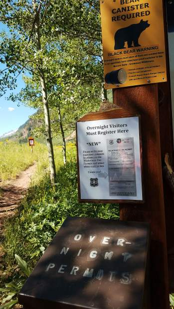 Overnight visitors are required to register at the trailhead in Conundrum Creek Valley.