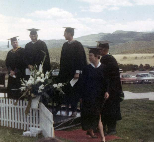 Cathy (Abegg) Jensen was the very first student to graduate from Colorado Mountain College in 1968. She still resides in Glenwood Springs with her husband, an early CMC student himself, John Jensen.