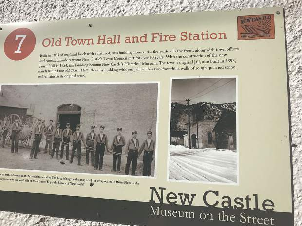 Signs throughout downtown New Castle teach about history without requiring a museum visit.