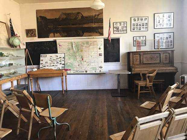 The old schoolhouse on the Silt Historical Park property hosts lectures and other events.
