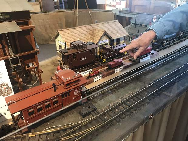 Glenwood Railroad Museum includes a number of model trains, constructed at different scales.