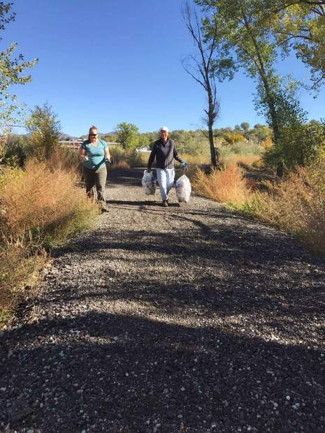 Stacey Hardene, Grant Fiedler and all the volunteers got to the river by 9 a.m. on Saturday to help beautify Rifle's portion of the Colorado River.
