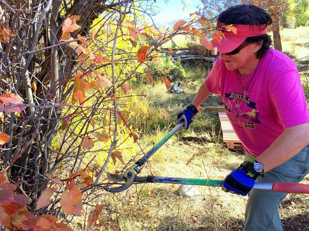 Roaring Fork Oudoor Volunteers help to build Prince Creek Trail in Carbondale.