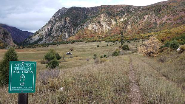 The Filoha Meadows Nature Preserve, about two miles north of Redstone, is an area that could be included in the Crystal River pedestrian/bike trail, which would follow some of an old train line.