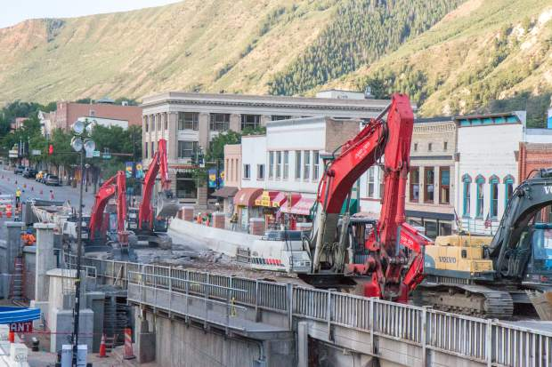 Demolition of the old Grand Avenue bridge began Aug. 14.
