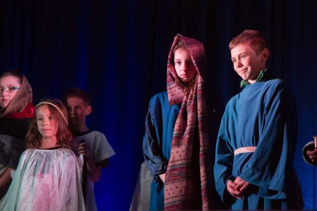 Libery Classical School students present Charlie Brown's Christmas Story during the 28th Annual Festival of Lights at the Hotel Colorado.