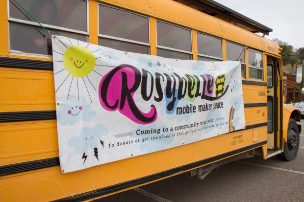 By May 1, Rosybelle's exterior will be transformed to give passersby a better idea of the creative opportunities inside. The bus will be wrapped in a design by Carbondale artist Stanley Bell.