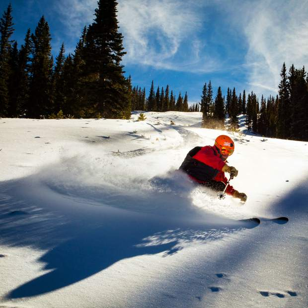 G.R. Fielding gets some pre-season turns at Snowmass.