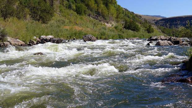 Rodeo Rapid, on the upper Colorado River. A federal judge has dismissed a case seeking personhood rights for the river, after the plaintiffs' attorney agreed with the state of Colorado that he should pull the case.
