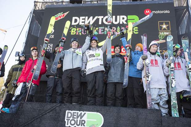 Team Volkl placed first in the team challenge Sunday, Dec. 17, during the Dew Tour event at Breckenridge Ski Resort.
