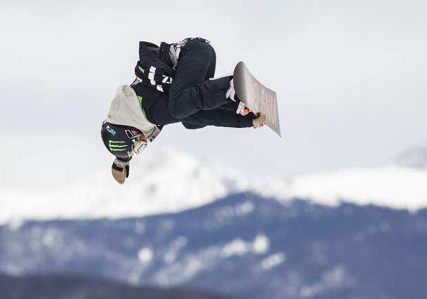 Jamie Anderson of United States competes in the slopestyle finals during the Dew Tour event Saturday, Dec. 16, at Breckenridge Ski Resort. Anderson took home second with a high score of 93.33.