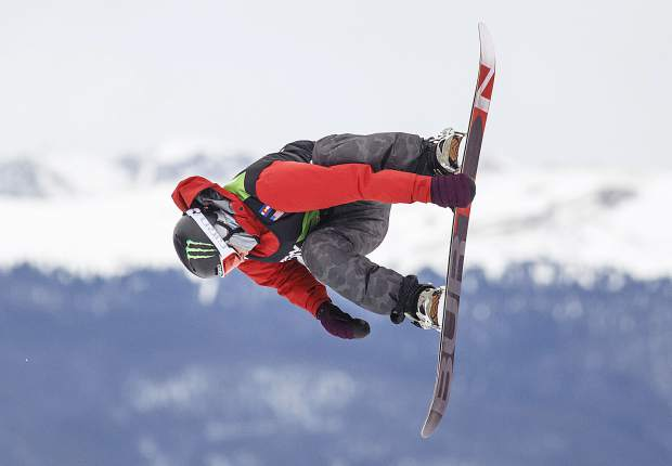 Silverthorne resident Chris Corning of the United States during the Dew Tour's Slopestyle finals Saturday at Breckenridge Ski Resort.