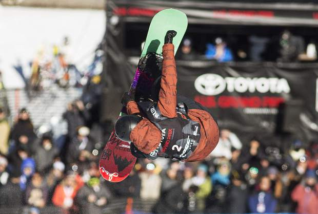 Kelly Clark of United States competes in the halfpipe finals during the U.S. Grand Prix event Saturday, Dec. 9, at Copper Mountain.