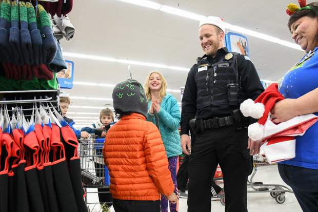 All Smiles For Shop With A Cop At Glenwood Wal Mart