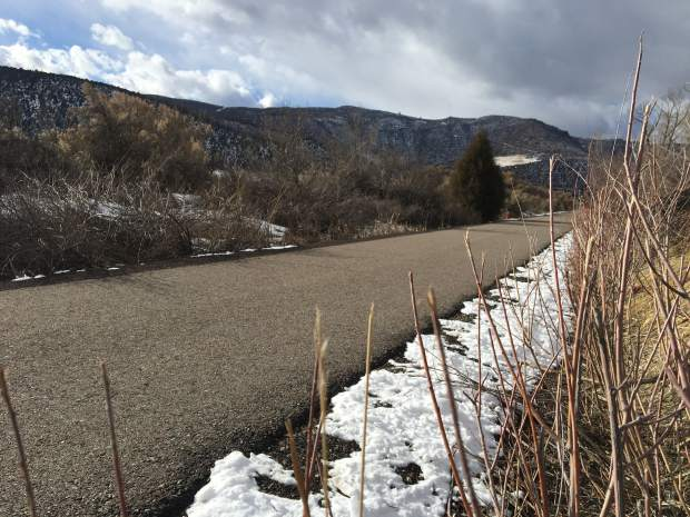 The Rio Grande Trail near the Riverview School south of Glenwood Springs.